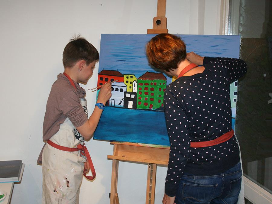 Kind-ouder schilderen:                    datum volgt nog